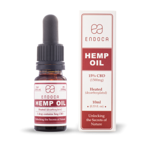 Endoca CBD Hemp Oil Drops 1500 mg. (15%) - 10 ml.