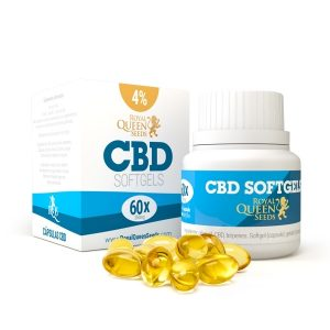 Royal Queen CBD Oil Softgel Capsules 4% - 60 caps.