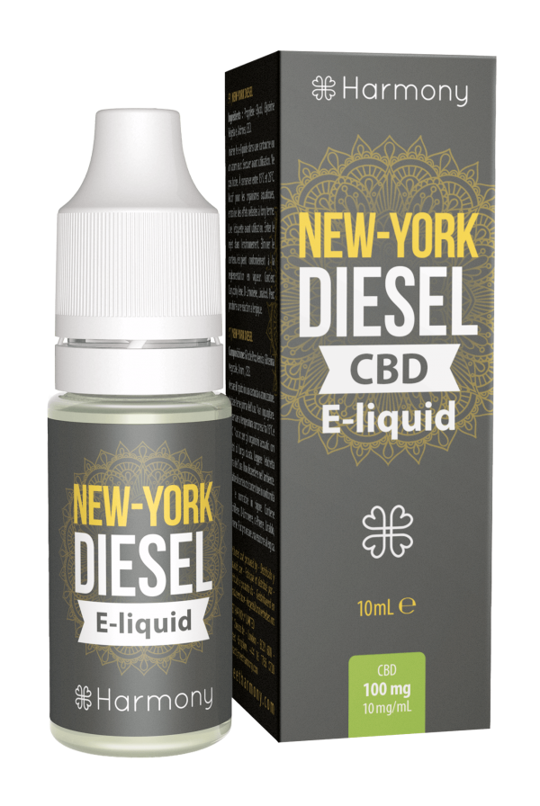 Harmony CBD New York Diesel E-Liquid - 10 ml - 600 mg. CBD