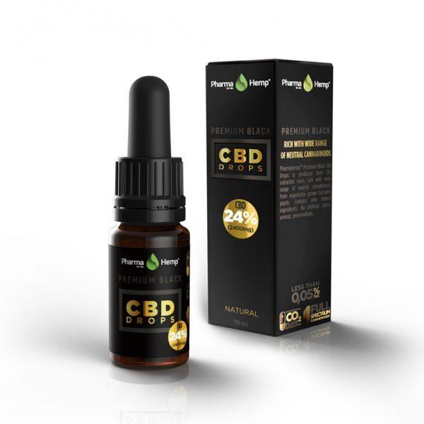 PharmaHemp CBD Premium Black Drops - 24% - 10 ml