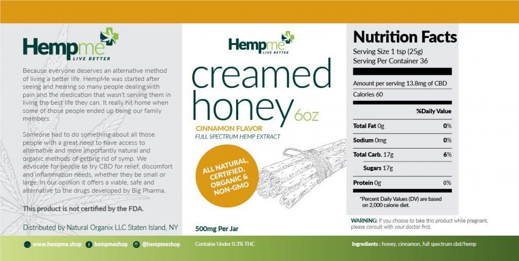 Organic CBD full spectrum honey