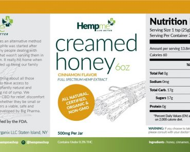 Organic CBD full spectrum honey