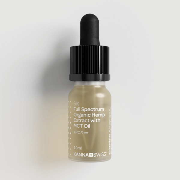 KannaSwiss Full-Spectrum Organic Hemp Extract with MCT Oil 6% - 100 ml.