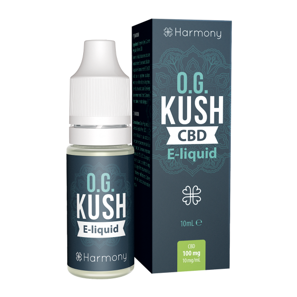 Harmony CBD OG Kush E-Liquid - 10 ml - 600 mg. CBD