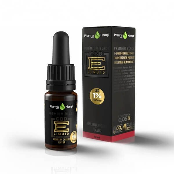 PharmaHemp Premium Black CBD E-Liquid 1% - 10 ml - Tiramisu