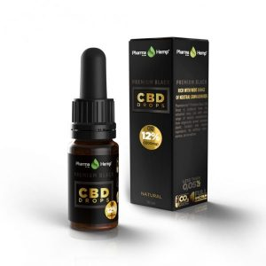 PharmaHemp CBD Premium Black Drops - 12% - 10 ml