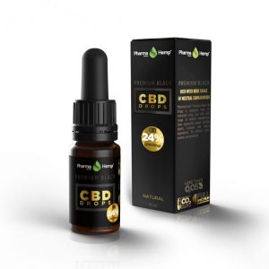 PharmaHemp CBD Premium Black Drops - 24% - 10 ml