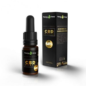 PharmaHemp CBD Premium Black Drops - 6.6% - 10 ml