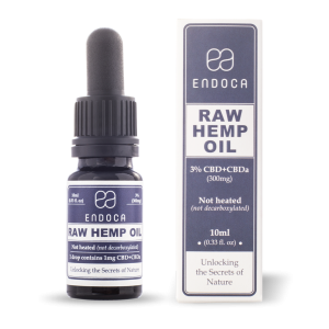 Endoca RAW CBD Hemp Oil Drops 300 mg. (3%) - 10 ml.